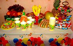 Накрыть стол на детский праздник аниматоры на дом Студенецкий переулок