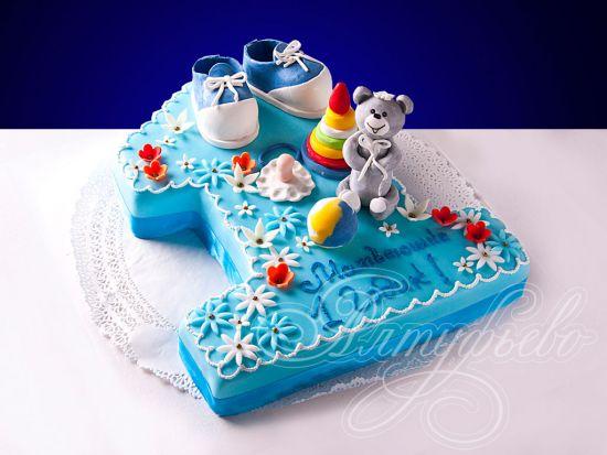 Фото детских тортов на год